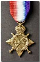 1914-15 Star 1st World War GV Replacement medal with engraving detail