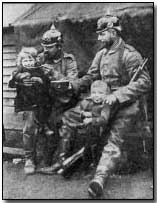 German soldiers in Antwerp feeding orphans