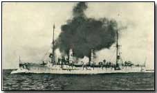 "German cruiser ""Frauenlob"" - sunk at Jutland"