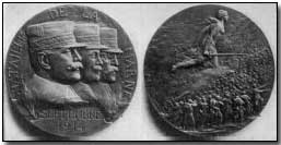 French medal commemorating the First Battle of the Marne