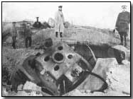 Ruined gun turret of Namur fort, 1914