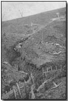 Italian trenches on the Montello, west of Nervesa, Piave front