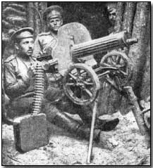 Russian machine gun team