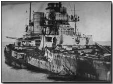 SMS Seydlitz after the Battle of Jutland: In spite of severe damage, the ship managed to reach port