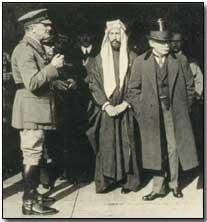 Sir Edmund Allenby, King Feisal and David Lloyd George in London, 1919