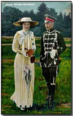 1906 Postcard of Crown Prince Wilhelm and Crown Princess Cecilie