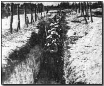 French communications trench