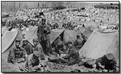 German prisoners in a French camp