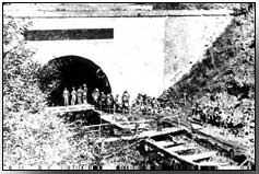 Entrance to St Quentin canal tunnel under ridge at Bellicourt, on the Hindenburg Line