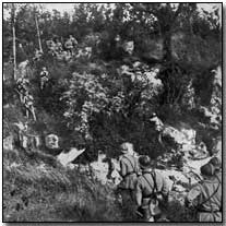 French patrol on the Marne front