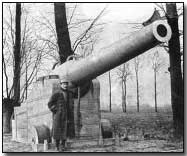 Dummy French 240mm gun made of paper