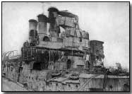 HMS Vindictive following the raid at Zeebrugge