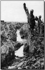 Water-filled trench at Passchendaele, 1917