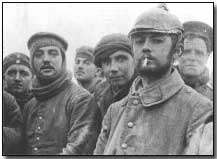 Two Territorials of London Rifle Brigade with Saxon troops of the 104th and 106th Regiments in No Man's Land near Ploegsteert Wood during the unofficial Christmas Truce