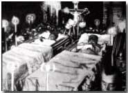 Archduke Franz Ferdinand's body lying in state
