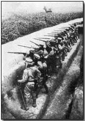Japanese troops in action near Kiaochow.