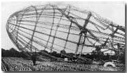 Framework of a Zeppelin shot down over England, 23 Sep 1916