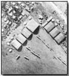 Aerial view of a French airbase near Verdun