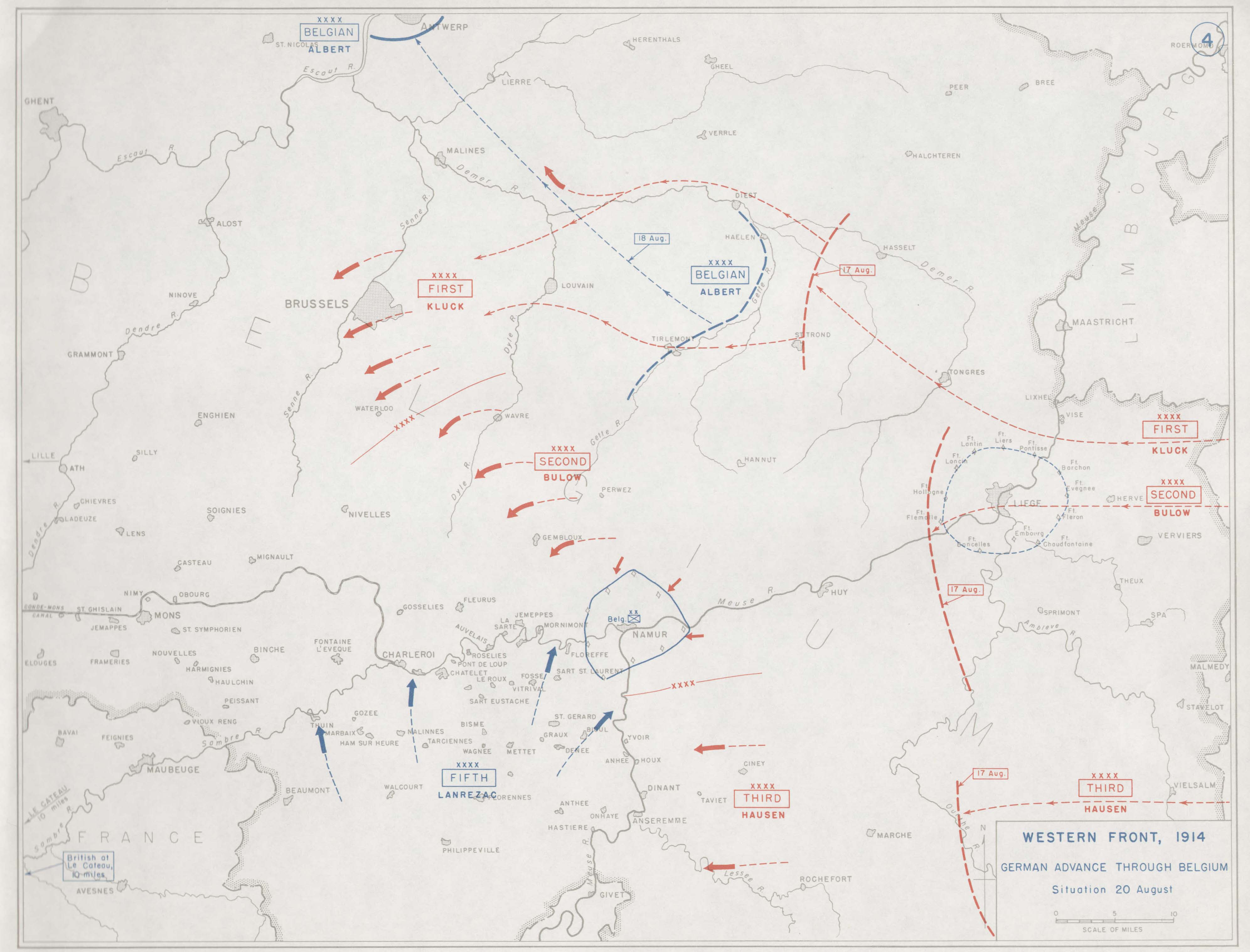 Map Of Germany 1914.First World War Com Battlefield Maps Western Front