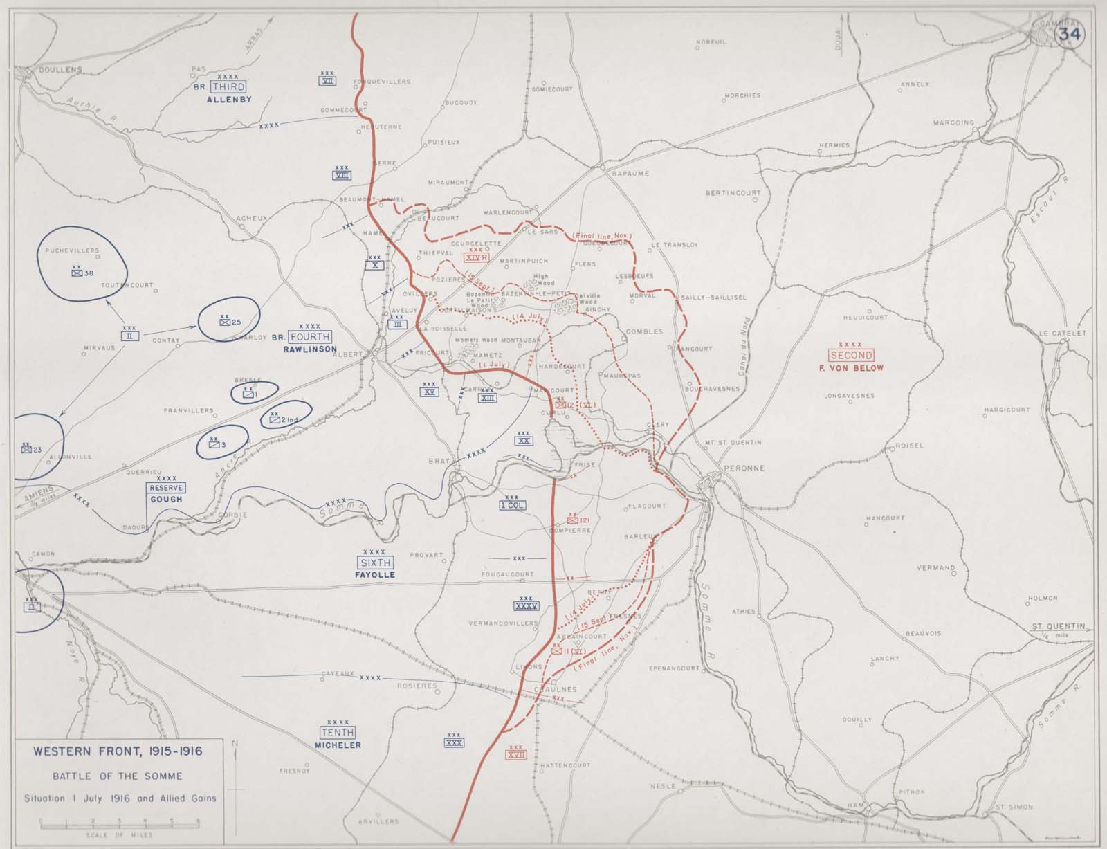 First World War.com - Battlefield Maps: Western Front