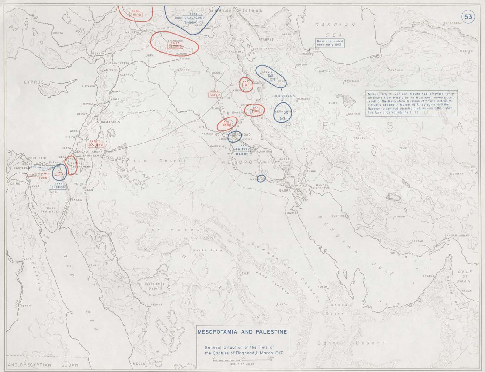 click here to view a map charting operations at the time of the fall of baghdad