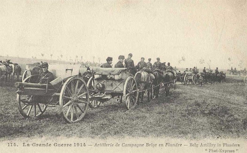 Image result for ww1 belgium ARTILLERY  gun