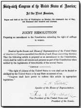 Photograph of the U.S. 19th Amendment.  Click to enlarge.