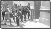 The arrest of Gavrilo Princip directly following the assassination of Archduke Franz Ferdinand